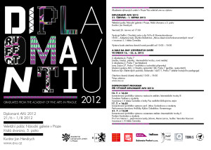 pozvánka Diplomanti AVU 2012